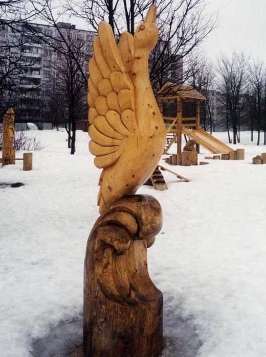 Деревянные скульптуры