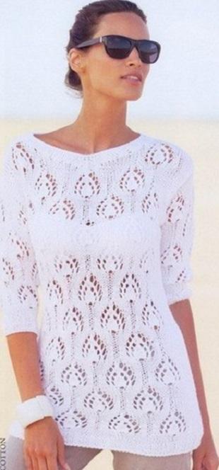 Пуловер Павлинье перо