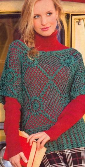 Вязание пуловера крючком