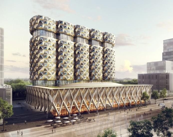 ЗИЛ Башня от Neutelings Riedijk Architects, Москва, Россия.