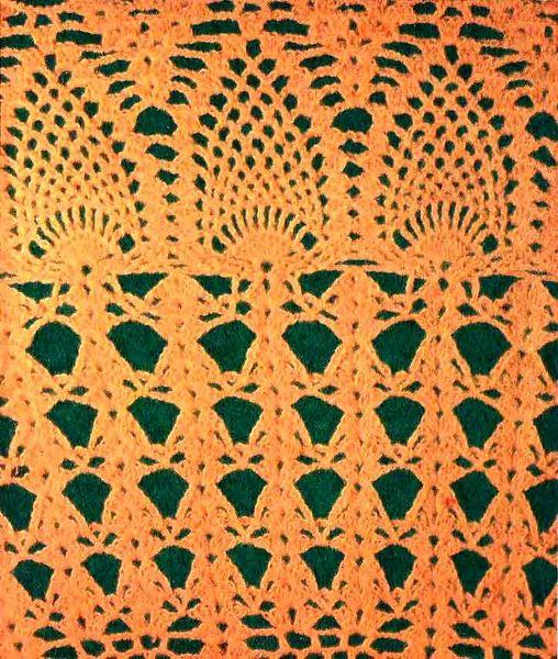Шикарная шаль крючком - фрагмент