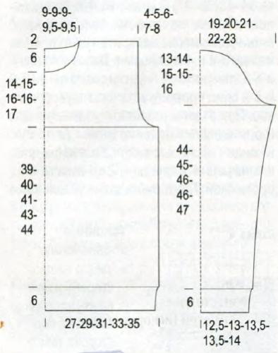 Выкройка мужского пуловера