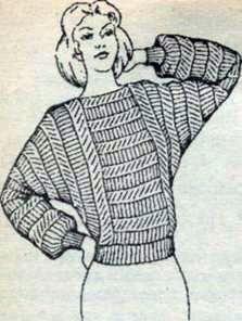 Вязаная блузка кимоно со щелевидной горловиной