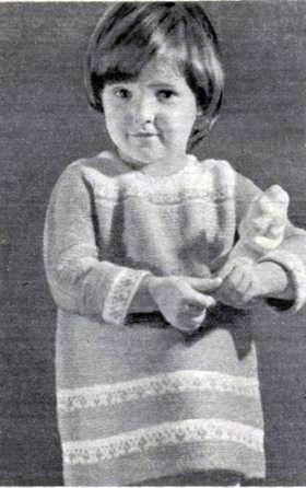 Вязаное платье для девочки 1,5 – 2 лет