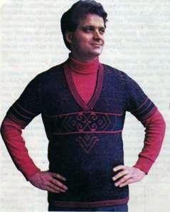 Мужской пуловер с короткими рукавами