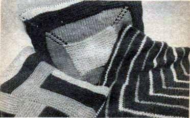 Вязаная наволочка из 4 квадратов