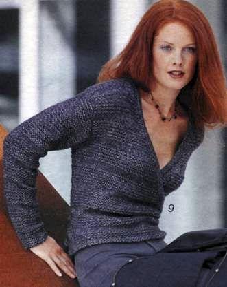 Вязаный пуловер с запахом размеры 36/38 и 40/42