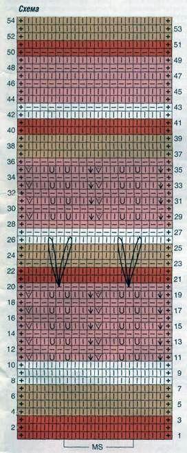 Вязаный топ с разноцветными полосками размеры: 36/38 (40/42) 44/46