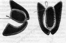 Тапочки закрытого типа Калинка