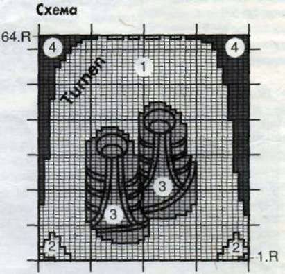 Вязаный пуловер с сумкой для гимнастики Размеры: 104/110 (128/134)