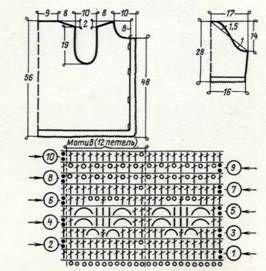 Ажурный жакет (разм. 44 46), схема вязания крючком