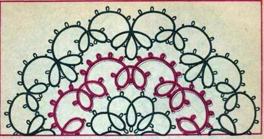 Салфетка из 3 рядов