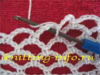 Как сделать арочку (дугу) из воздушных петель