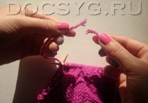 как соеденить нити при вязани без узла