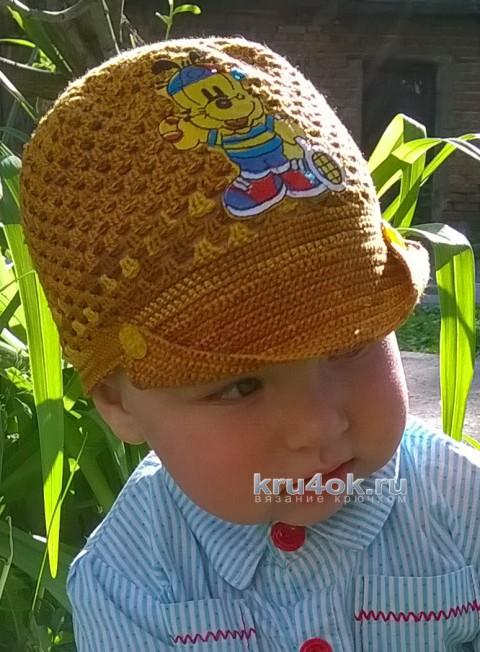 Кофточка и кепочка для мальчика. Работы Галины Лукериной вязание и схемы вязания