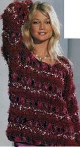 Пуловер в красных тонах размеры: 38/40 (42/44) 46/48