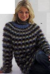 Пуловер с узором ракушки размеры: 38 42