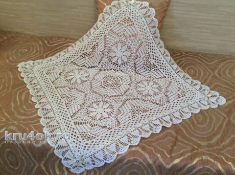 Детский ажурный плед. Работа Татьяны вязание и схемы вязания