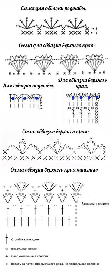 Вязание крючком шаг за шагом схема 628