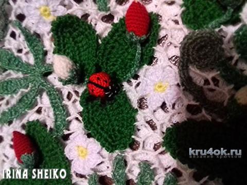Детский топик Земляничная поляна. Работа Ирины вязание и схемы вязания
