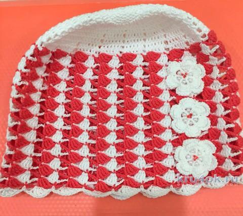 Панама для девочки крючком. Работа Temirgaliieva.evg вязание и схемы вязания