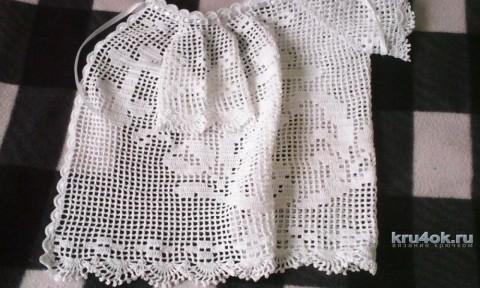 Рубашка для крещения. Автор Рита Грачева вязание и схемы вязания