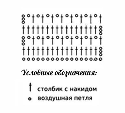 схема узора для платья
